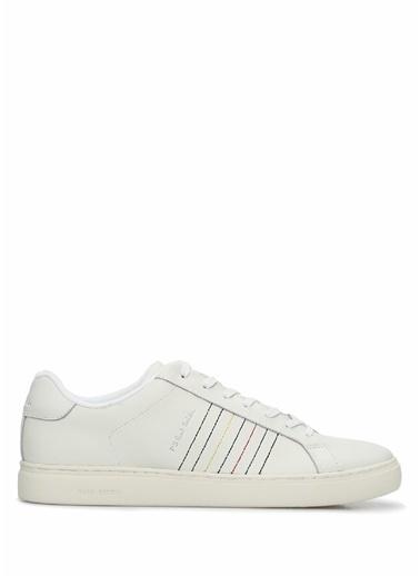 PS by Paul Smith PS Paul Smith  Dikiş Detaylı Erkek Deri Sneaker 101549303 Beyaz